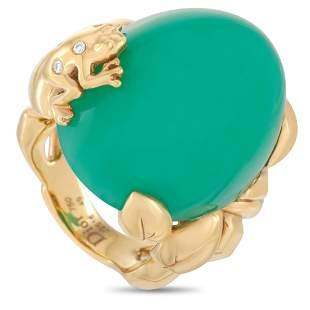 Dior Gourmande Grenouille 18K YG .04ct Diamond Ring -