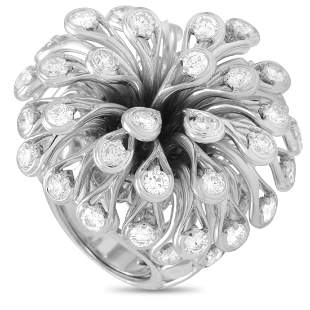 Dior Feu D'Artifice 18K WG 6.50 ct Diamond Ring - 6.0