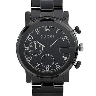 Gucci GChrono Black Ceramic Watch YA101352