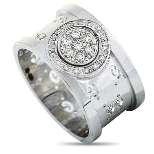 Gucci Icon Twirl 18K White Gold Diamond Band Ring -