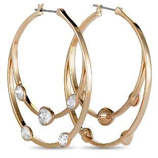 5 Pack - Swarovski Rose Gold Plated Earrings