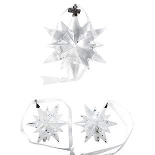 10 Pack - Swarovski Snowflake Ornament Set