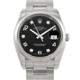 Rolex Oyster Perpetual Date Diamond Dial Watch