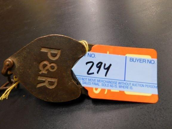 P & R brass railroad lock