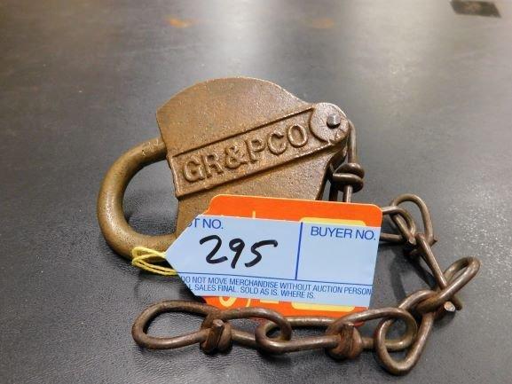 GR& P CO brass lock