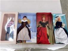 4 Avon Barbie Dolls