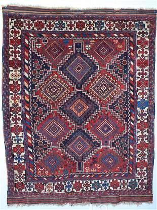 Diamond Pattern Afshar rug.
