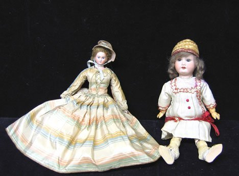 4003: Two piece Bisque Head Dolls, , With the Armand Ma