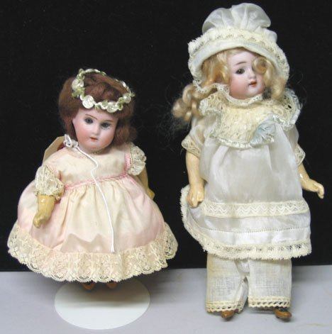 4004: Globe Baby Hartman bisque head doll and RA DEP bi