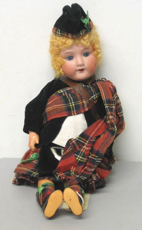 4009: Armand Marseilles Scottish lass doll, , Stamped: