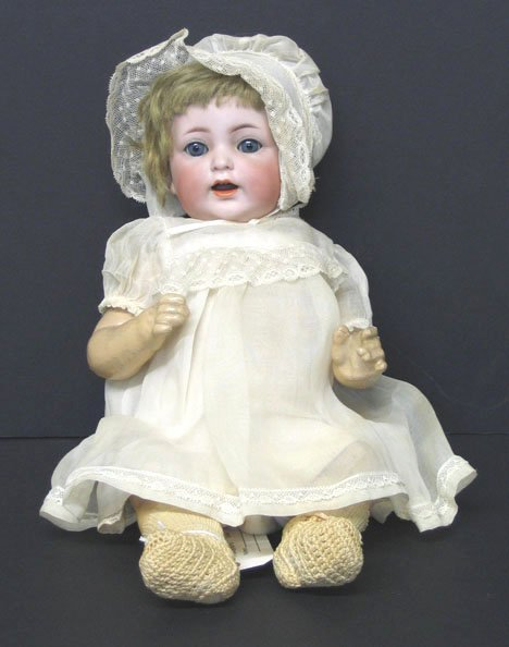 4010: Simon and Halbig Bisque head doll, , Stamped: Ger