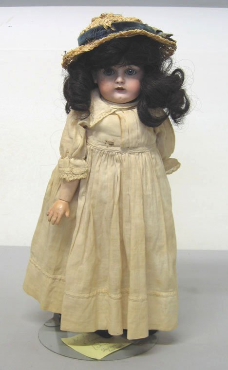 4014: Kestner Bisque Head Doll, , Stamped: Made in E. G