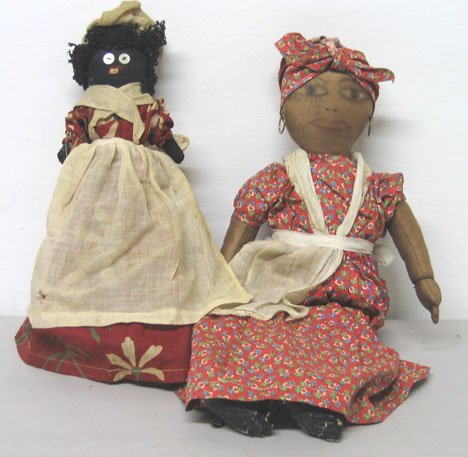"4017: Two piece Handmade  Mammy "" Cloth Dolls, , Includ"