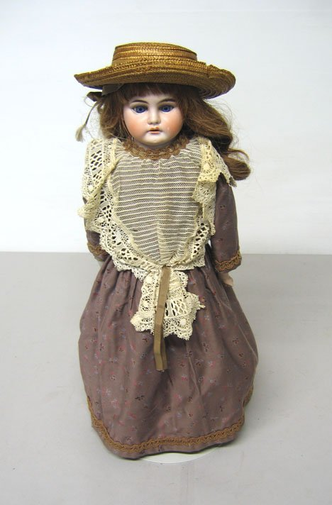 4023: German Made Bisque Head Doll, , Marked with a sta