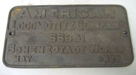 4119: Five piece American Locomotive Company Badges, ,