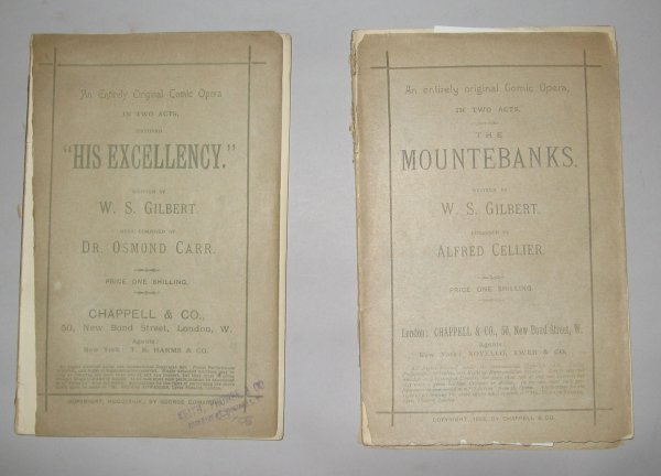 1003: 2 vols. (wrappers) Gilbert, W.S.: The Mountebanks