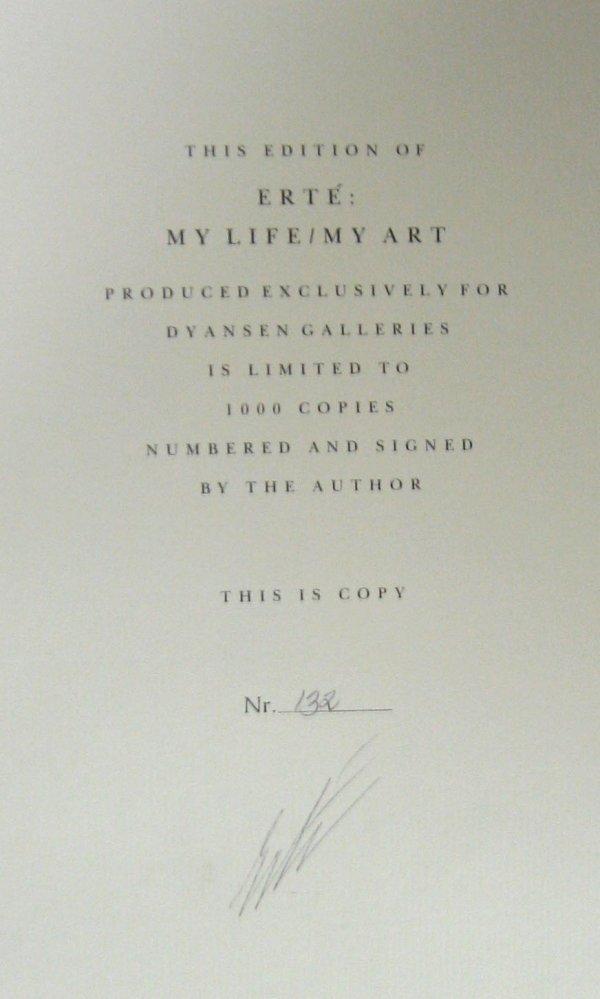 1011: 1 vol. Erte. My Life/My Art. New York: Dutton, (1