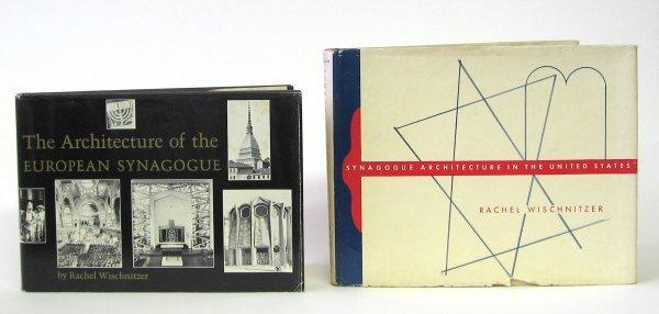 1024: 2 vols. Synagogue Architecture: Wischnitzer, Rach