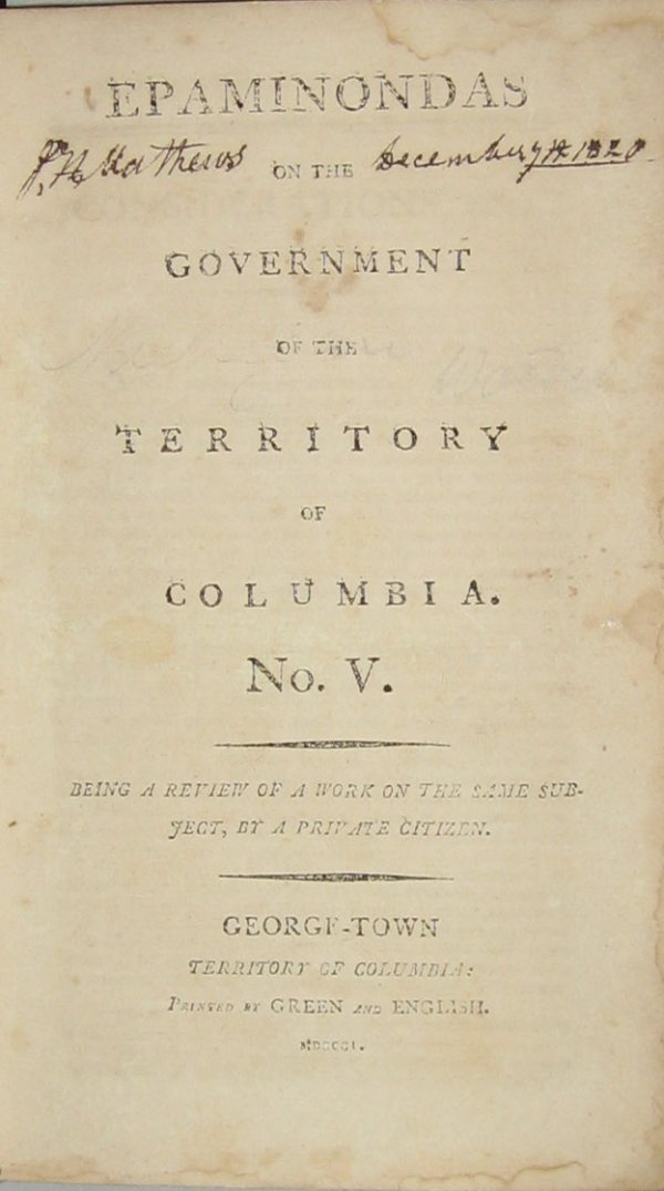 1428: 1 vol. (American Law - District of Columbia; Mich