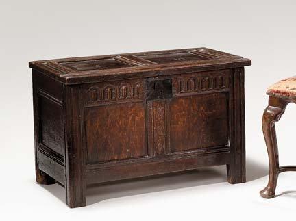 2005: Charles II oak coffer, last quarter 17th century,