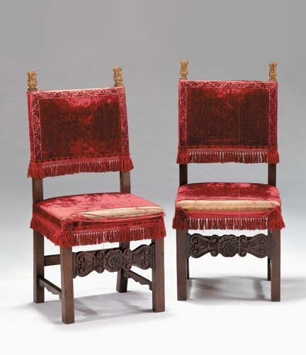 2011: Pair of Italian side chairs, 19th century, The ba