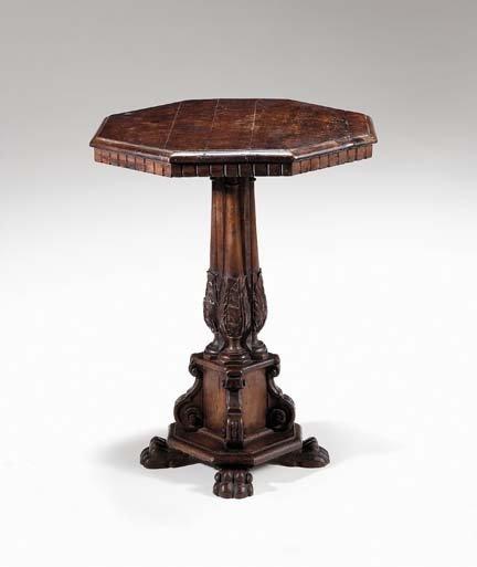 2013: Italian walnut center table, 17th century made up
