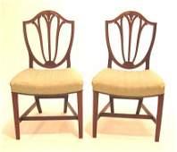 2116 Set of six George III mahogany side chairs circa