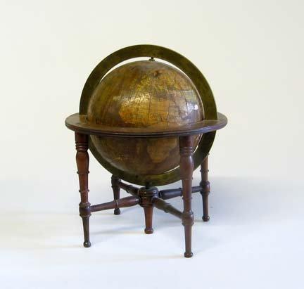 2360: English terrestrial table globe, 19th century, Un