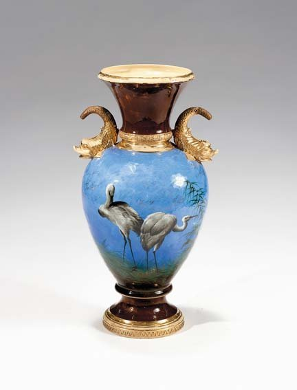 10646: Rare Rookwood pottery vase, decorated by Albert