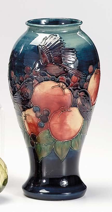 10660: Moorcroft vase, , Of inverted baluster form, dec