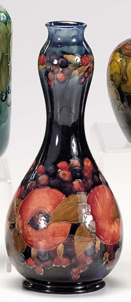 10662: Moorcroft double gourd 'Pomegranate' vase, , Dec