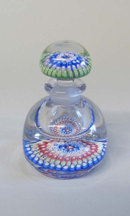21503: Whitefriars or Walsh & Walsh millefiori bottle a