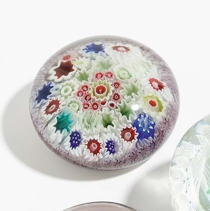 21510: Glass paperweight, circa 1860, English, possibly
