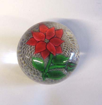 21518: New England Glass Paperweight, 19th century, Hig
