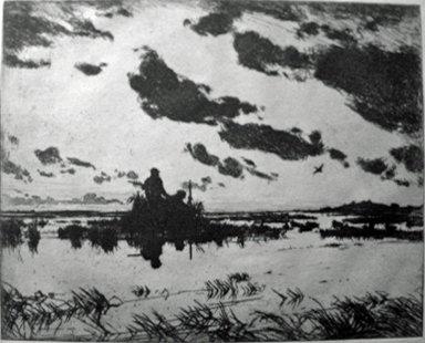 5: FRANK WESTON BENSON, (AMERICAN 1862-1951), THE GUNNE