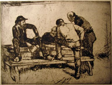 7: EDMUND BLAMPIED, (BRITISH 1886-1966), THE STRANGER