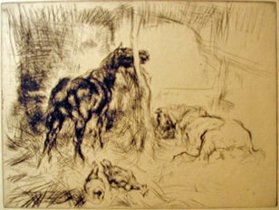 9: EDMUND BLAMPIED, (BRITISH 1886-1966), THE STABLE