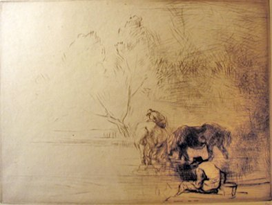 12: EDMUND BLAMPIED, (BRITISH 1886-1966), MISTY MORNING