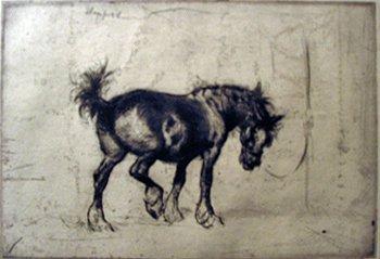 14: EDMUND BLAMPIED, (BRITISH 1886-1966), TETHERED
