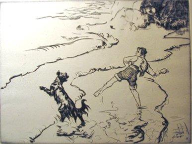19: EDMUND BLAMPIED, (BRITISH 1886-1966), FETCH IT