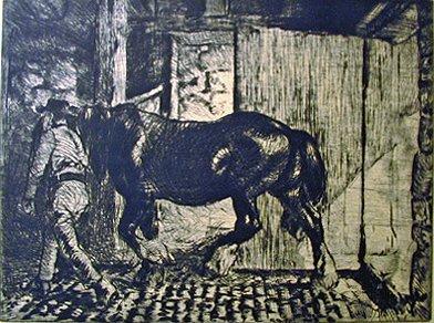 21: EDMUND BLAMPIED, (BRITISH 1886-1966), RETURNING TO