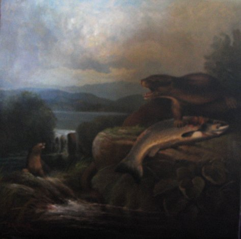 268: AFTER JOHN B. RUSSELL, (BRITISH 1818-1893), OTTERS