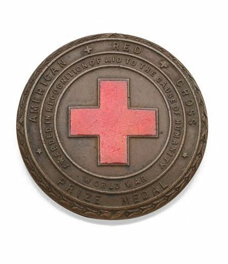 1001: An American Red Cross prize bronze medal,the obve