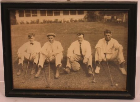 1019: A black and white group photograph of golfers