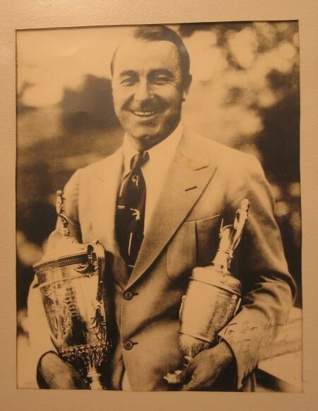 1020: A black and white photograph of Gene Sarazen