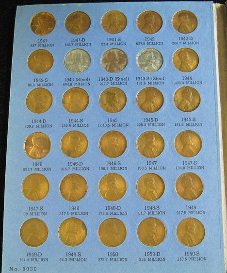 2001: Large Group of Cent Coins and Penny Folders., , I