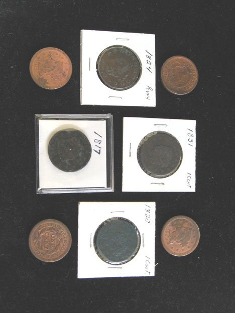 2002: Seventeen piece U.S. Large Cents, , Including the