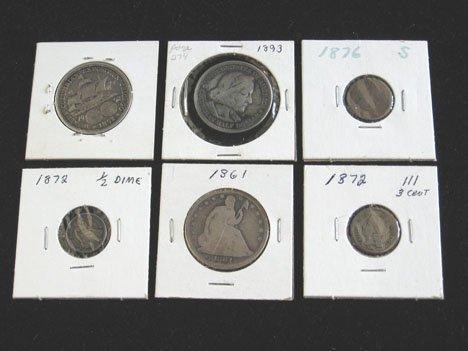 2005: Fifteen piece Early U.S. Half Dollars and Drilled