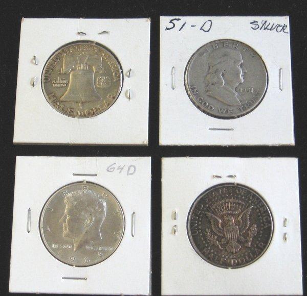 2007: Group of Franklin and JFK Half Dollars, ,