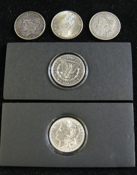 2008: Three Rolls of Silver Dollars, , Roll 1 includes